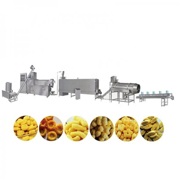 Ring Extrusion New Automatic Small Chip Maize Pellet Corn Puffing Maker Ball Manufacturing Rice Extruded Puff Mini Snack Machine #1 image