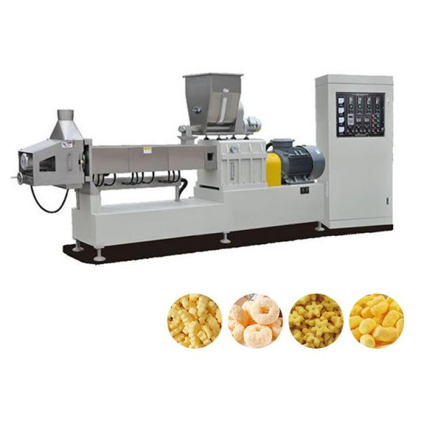 Full Automatic Twin Screw Extrusion Technology Fried Corn Pellet Tortilla Chips Snacks Food Extruder Machine Production Line #1 image