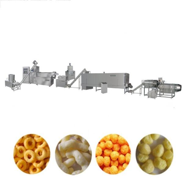 Full Automatic Twin Screw Extrusion Technology Fried Corn Pellet Tortilla Chips Snacks Food Extruder Machine Production Line #3 image
